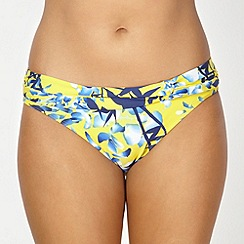 Gorgeous DD+ - Yellow flower shadow bikini bottoms