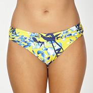 Yellow flower shadow bikini bottoms