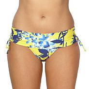 Yellow floral shadow bikini fold pants