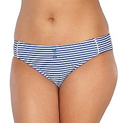 Gorgeous DD+ - Blue striped scalloped bikini bottoms