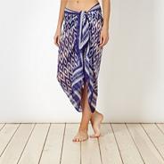 Dark blue chiffon zig zag sarong