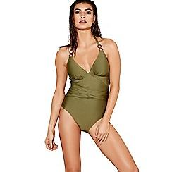 J by Jasper Conran - Green halterneck swimsuit