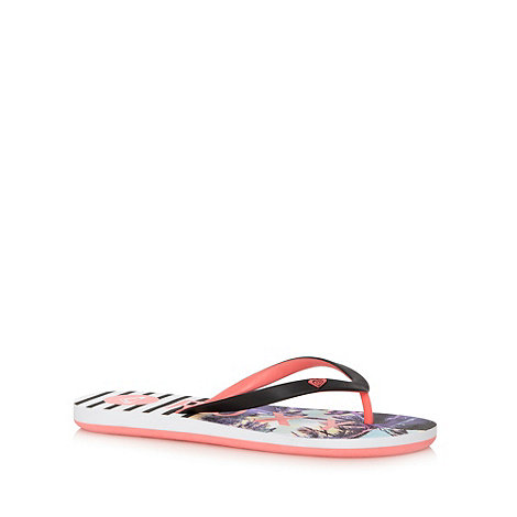 Roxy - Black +Tahiti+ striped flip flips