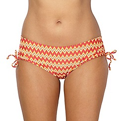 Curvy Kate - Orange zig zag print bikini shorts