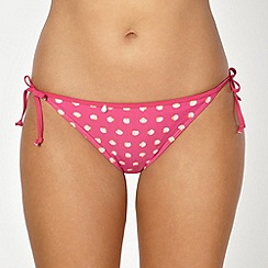 Curvy Kate - Pink seashell tie side briefs
