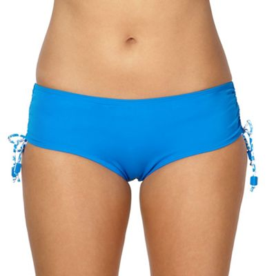 Curvy Kate Blue coral printed adjustable shorts - . -