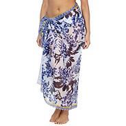 White floral sarong