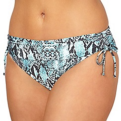Gorgeous DD+ - Blue snake print fold over bikini bottoms