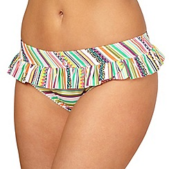 Gorgeous DD+ - Green tribal striped bikini bottoms