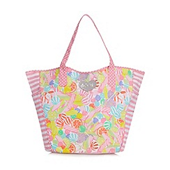 Floozie by Frost French - Pink sweetie print canvas shopper bag