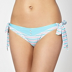 Floozie by Frost French - Aqua polka dot bunny tie side bikini bottoms