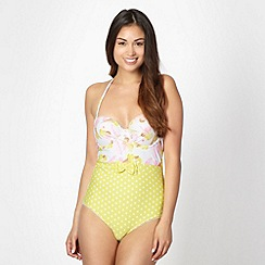 Floozie by Frost French - Yellow ice cream print underwired swimsuit