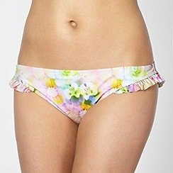 Floozie by Frost French - Designer neon pink frill bikini bottoms