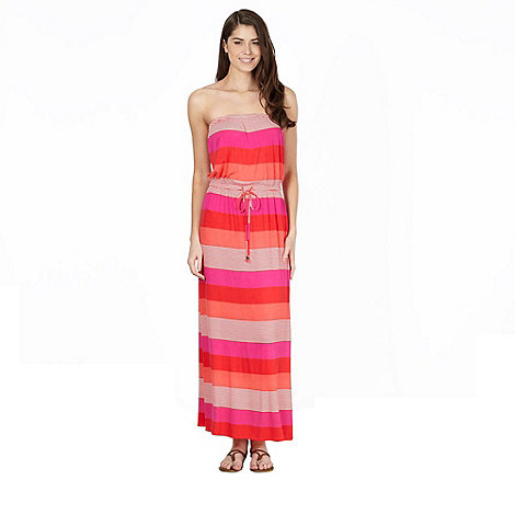 J by Jasper Conran - Designer pink jersey striped maxi dress