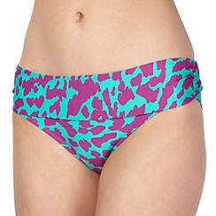 J by Jasper Conran - Designer green animal print folded bikini bottoms