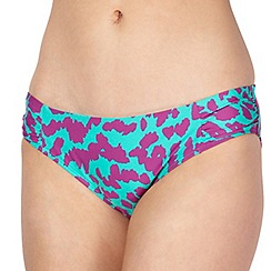 J by Jasper Conran - Designer green animal print bikini bottoms