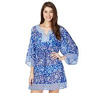 Blue mix and match floral kaftan