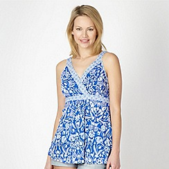 Beach Collection - Blue mix and match floral beach top