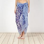 Blue mix and match floral sarong