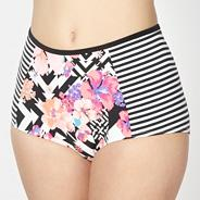 Pink aztec print high waist bikini pants