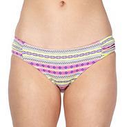 Designer grey tribal print bikini pants