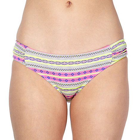 Red Herring - Designer grey tribal print bikini pants