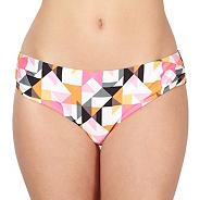Designer pink triangle print kaftan bikini bottoms
