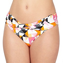 Principles by Ben de Lisi - Designer pink triangle print twist front bikini bottoms
