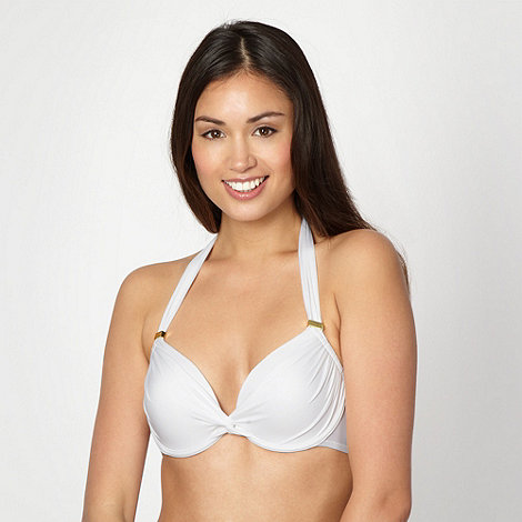 Reger by Janet Reger - Designer white underwired halter bikini top