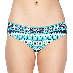 Beach Collection - Green ikat geometric bikini bottoms
