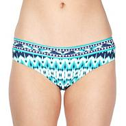 Green ikat geometric bikini bottoms