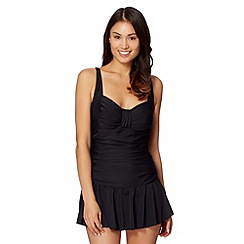Beach Collection - Black skirted tummy control swimsuit