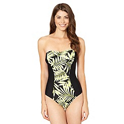 Beach Collection - Lime palm printed tummy control swimsuit