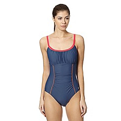 Maine New England - Dark grey ruched swimsuit
