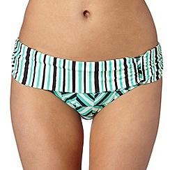 Principles by Ben de Lisi - Designer turquoise zig zag fold bikini bottoms