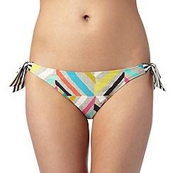 Principles by Ben de Lisi - Designer black zig zag print bikini bottoms