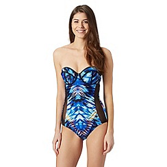 Butterfly by Matthew Williamson - Designer blue ikat underwired swimsuit
