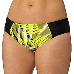 Gorgeous DD+ - Yellow palm print bikini bottoms