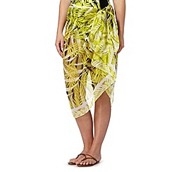 Gorgeous DD+ - Yellow palm print sarong