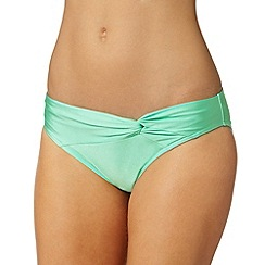 Gorgeous DD+ - Aqua twist front bikini bottoms