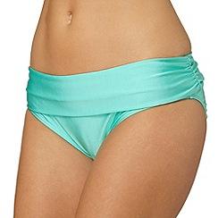 Gorgeous DD+ - Aqua fold down bikini bottoms