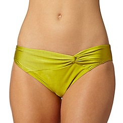 Gorgeous DD+ - Yellow twist front bikini bottoms