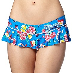 Floozie by Frost French - Blue rose skirted bikini bottoms