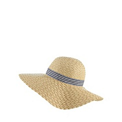 Floozie by Frost French - Natural gingham band floppy hat