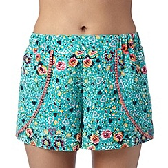 Floozie by Frost French - Green rose and heart shorts