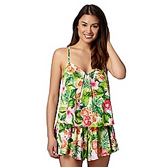 Floozie by Frost French - Green tropical floral vest top