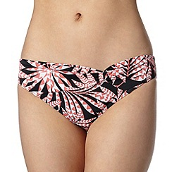 Beach Collection - Coral palm printed bikini bottoms