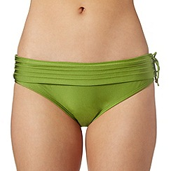 J by Jasper Conran - Designer green stitched fold bikini bottoms