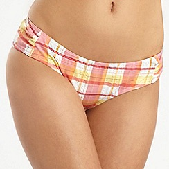 Floozie by Frost French - Pink check bikini bottoms
