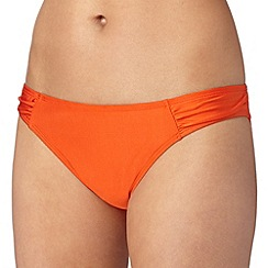 J by Jasper Conran - Designer orange plain bikini bottoms